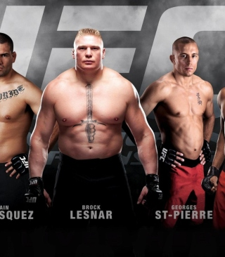 Ufc Mma Mixed Fighters Background for 128x160