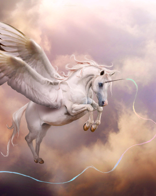 Pegasus, Unicorn Background for iPhone 6 Plus