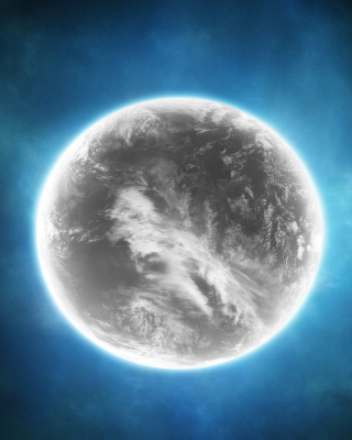 Free Gray Planet Picture for Nokia C7