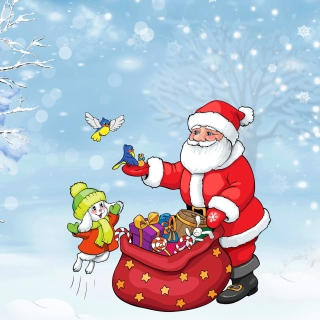 Santa Claus And The Christmas Adventure sfondi gratuiti per iPad mini