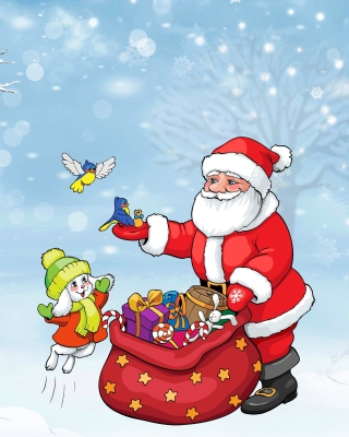 Kostenloses Santa Claus And The Christmas Adventure Wallpaper für 640x1136