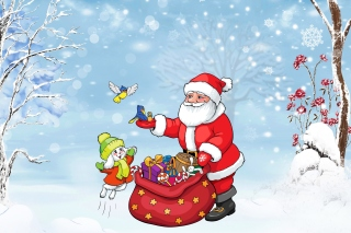 Kostenloses Santa Claus And The Christmas Adventure Wallpaper für Samsung Galaxy Tab 3 10.1