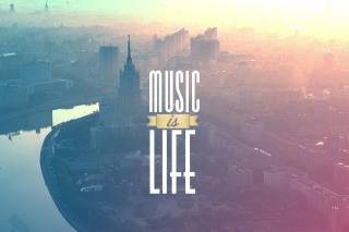 Kostenloses Music Is Life Wallpaper für Samsung Galaxy S6