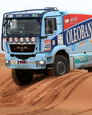 Dakar Rally Man Truck papel de parede para celular para iPhone 6