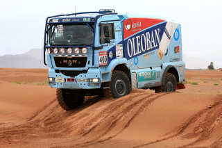 Dakar Rally Man Truck Wallpaper for 1080x960