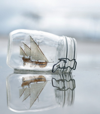 Toy Ship In Bottle Wallpaper for iPhone 6 Plus