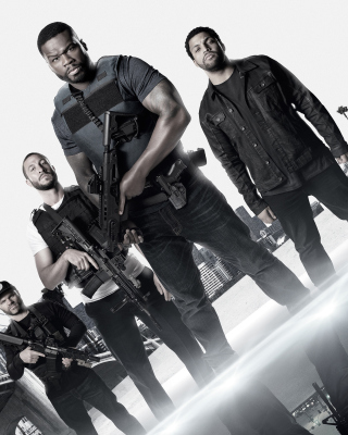 Kostenloses Den of Thieves movie with 50 Cent, Oshea Jackson, Jr Pablo Schreiber Wallpaper für Nokia Asha 305