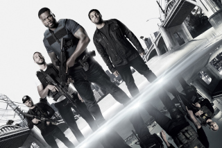Kostenloses Den of Thieves movie with 50 Cent, Oshea Jackson, Jr Pablo Schreiber Wallpaper für 1400x1050
