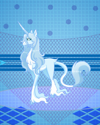 My Little Pony Blue Style Background for Blackberry RIM 9810 Torch