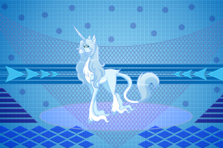 My Little Pony Blue Style Background for Huawei U8180 IDEOS X1