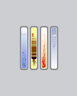 Four Elements Wallpaper for Nokia Asha 311