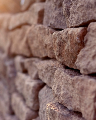 Macro Brick Wall Closeup papel de parede para celular para iPhone 4S