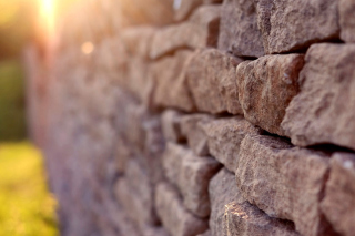 Macro Brick Wall Closeup Picture for Android, iPhone and iPad