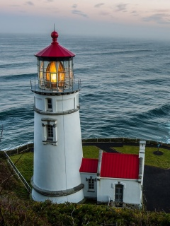 Screenshot №1 pro téma Lighthouse at North Sea 240x320