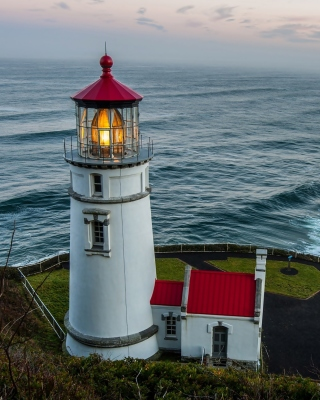 Lighthouse at North Sea Wallpaper for Nokia Asha 306