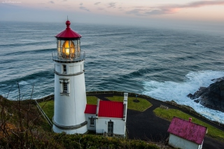 Lighthouse at North Sea Background for Android, iPhone and iPad