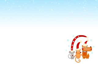 Christmas Characters Background for Android, iPhone and iPad