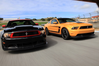Boss 302 Ford Mustang Background for Android, iPhone and iPad