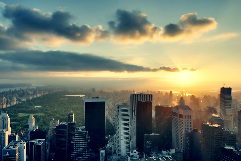небоскребы на рассвете без смс