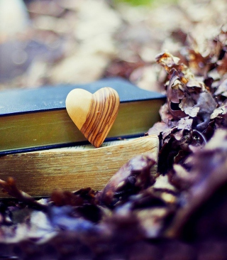 Yellow Heart And Vintage Books Wallpaper for iPhone 6 Plus