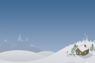 Winter House Drawing sfondi gratuiti per cellulari Android, iPhone, iPad e desktop