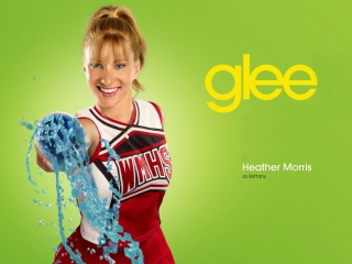 Heather Morris Glee Brittany papel de parede para celular para HTC Wildfire