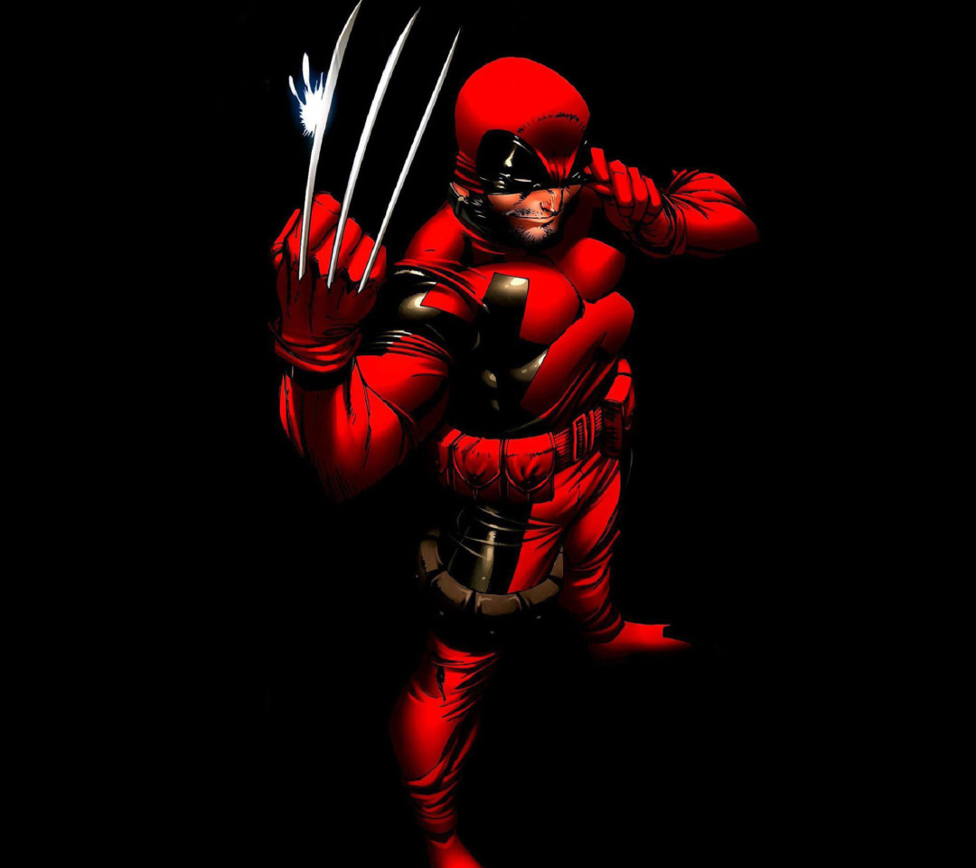 Screenshot №1 pro téma Wolverine in Red Costume 1080x960