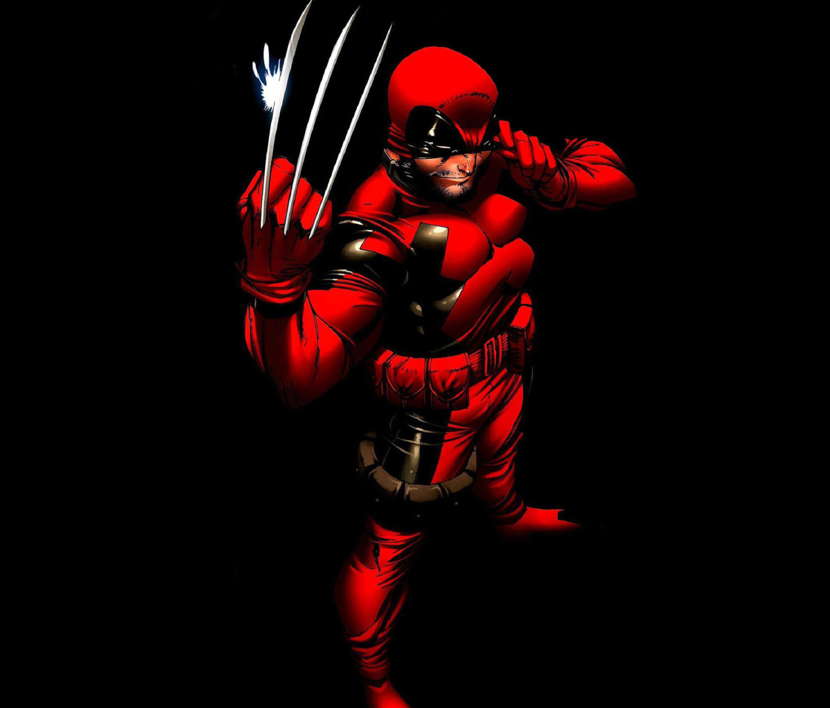 Screenshot №1 pro téma Wolverine in Red Costume 1200x1024