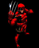 Wolverine in Red Costume wallpaper 128x160
