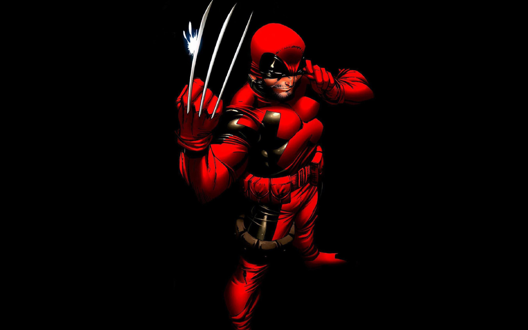 Screenshot №1 pro téma Wolverine in Red Costume 1680x1050