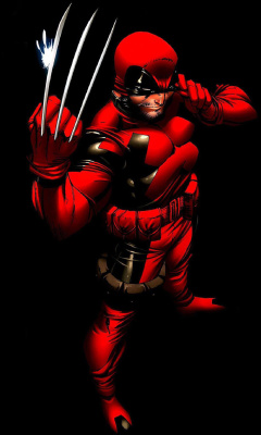 Screenshot №1 pro téma Wolverine in Red Costume 240x400