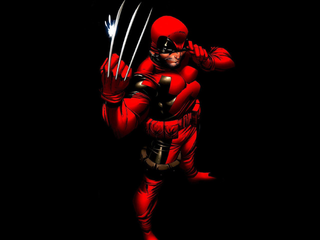 Screenshot №1 pro téma Wolverine in Red Costume 640x480