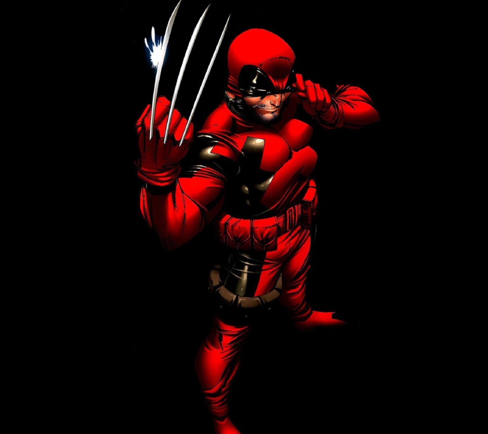Screenshot №1 pro téma Wolverine in Red Costume 960x854