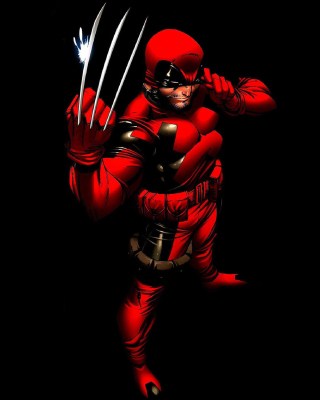Wolverine in Red Costume Wallpaper for Nokia Asha 311