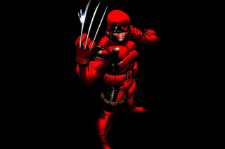 Wolverine in Red Costume Background for Android, iPhone and iPad