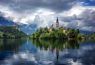 Lake Bled, Slovenia sfondi gratuiti per cellulari Android, iPhone, iPad e desktop