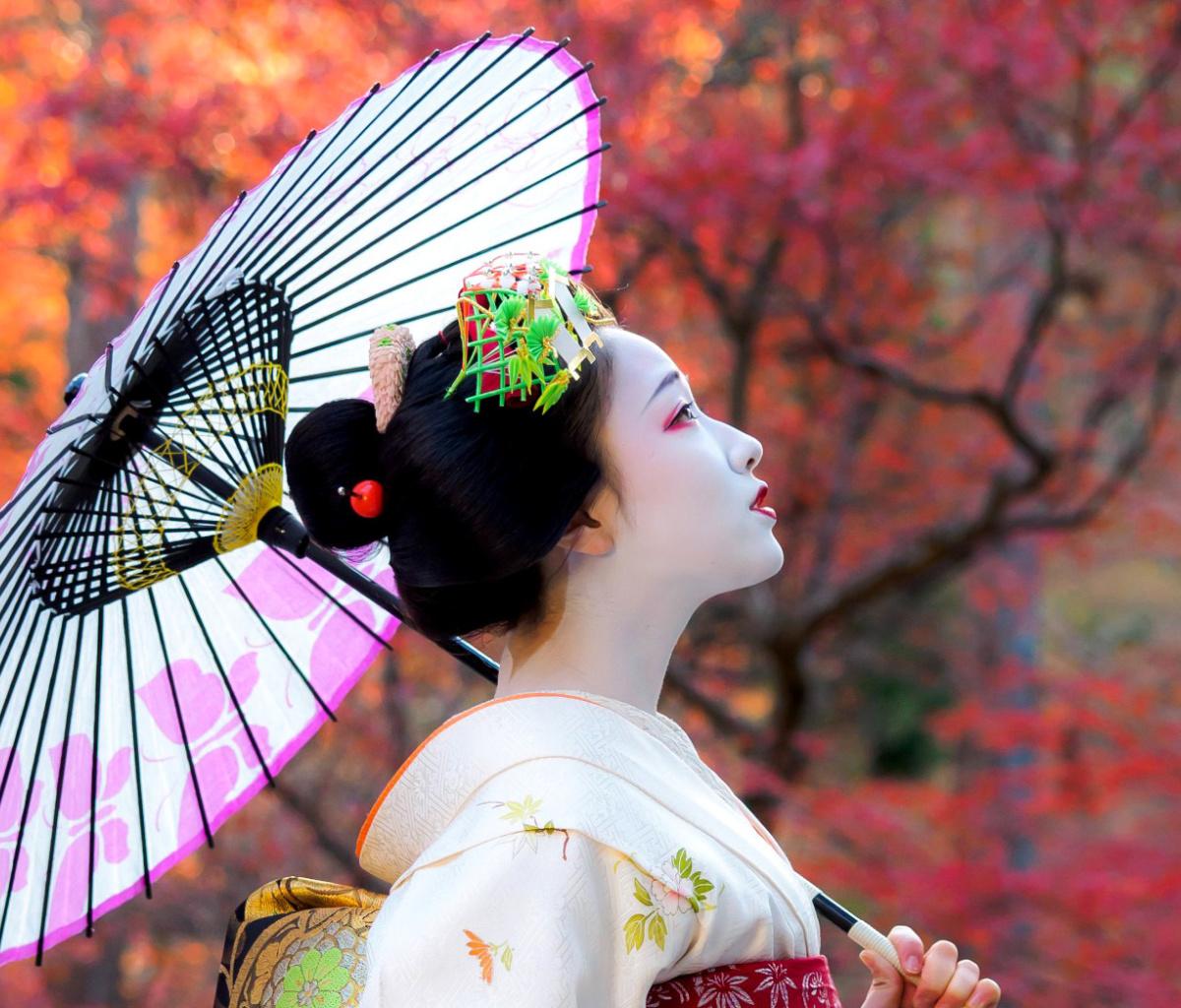 красивые японки с зонтами картинки стекла