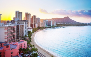 Waikiki Beach Hawaii sfondi gratuiti per cellulari Android, iPhone, iPad e desktop