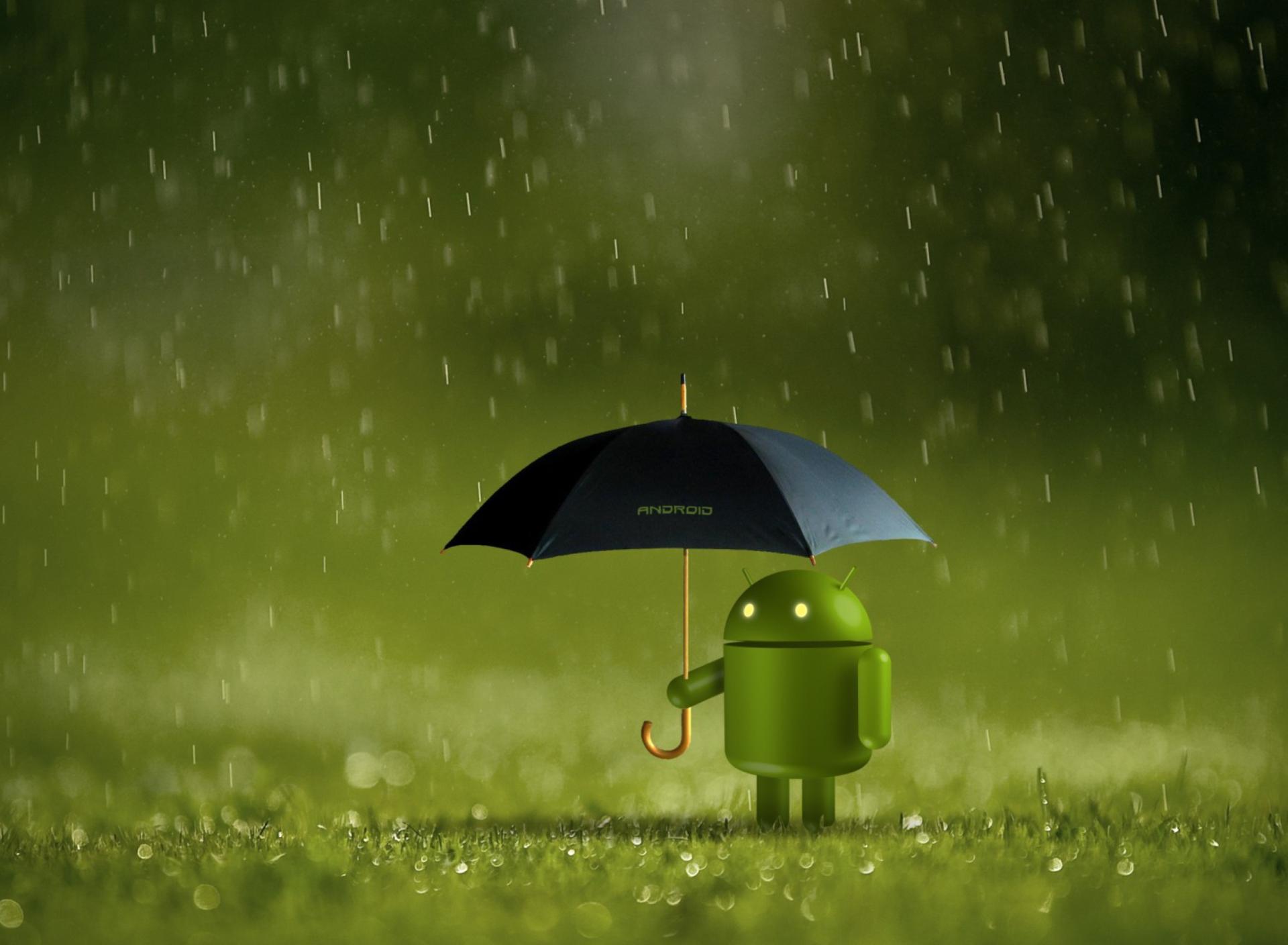 Обои на телефон дождь андроид
