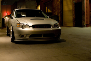 Turbo Subaru Legacy In Garage papel de parede para celular