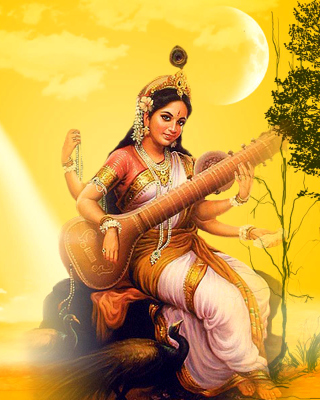 Saraswathi God Background for HTC Titan