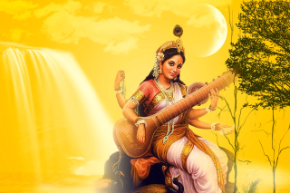 Free Saraswathi God Picture for Desktop 1280x720 HDTV