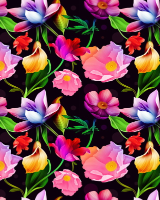 Colorful Flowers Wallpaper for Nokia C1-01