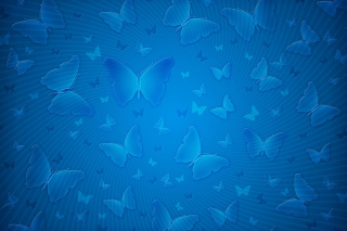 Blue Butterflies Background for Android, iPhone and iPad