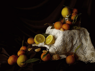 Screenshot №1 pro téma Still Life with Fruit 320x240