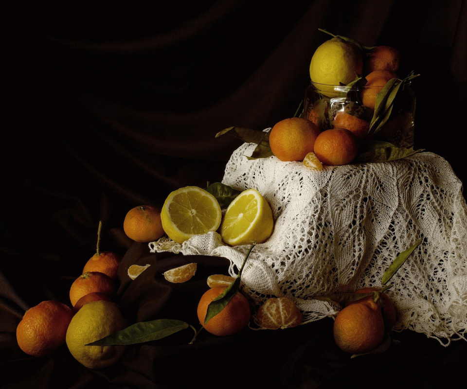 Fondo de pantalla Still Life with Fruit 960x800
