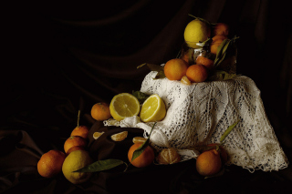 Still Life with Fruit Wallpaper for Android, iPhone and iPad