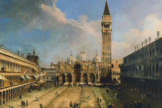 Piazza San Marco in Venice Postcard Background for Android, iPhone and iPad