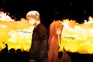 Spice And Wolf Background for Android, iPhone and iPad