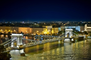 Budapest Danube Bridge Background for Android, iPhone and iPad
